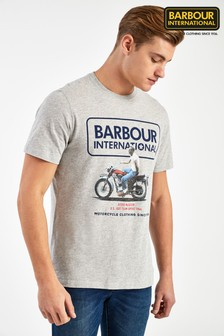 Barbour® International Grey SMQ Relaxed T-Shirt