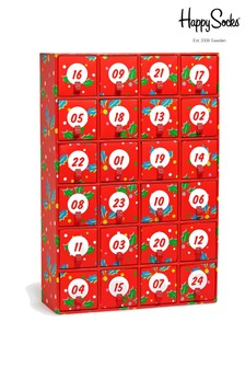 Happy Socks Red/Green 24 Pack Advent Calendar Socks