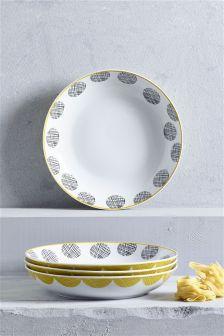 Set of 4 Pendle Pasta Bowls
