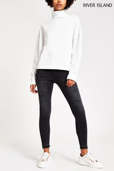 River Island Wash Black Molly Jeans