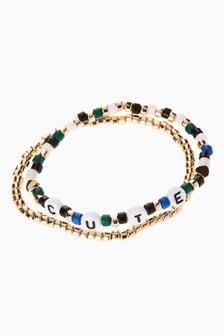 Cute Beaded Expander Bracelet Two Pack