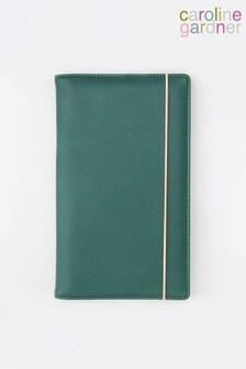 Caroline Gardner Green Travel Wallet
