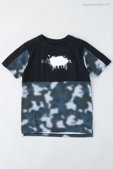 Angel & Rocket Grey Camoflage T-Shirt