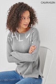 Calvin Klein Grey Calvin Logo Sweater