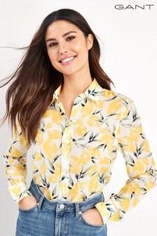 GANT Lemon Print Cotton Silk Shirt
