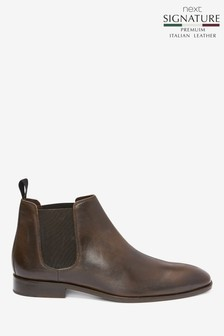 Signature Italian Leather Chelsea Boots