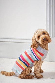 Striped Knit Dog Jumper