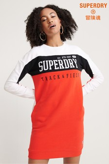 Superdry Panel long Sleeved Sweat Dress
