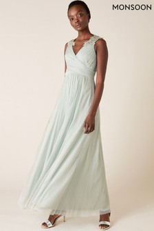 Monsoon Mischa Embellished Tulle Maxi Dress