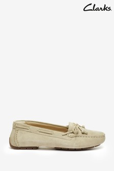 Clarks Taupe Suede C Mocc Boat2 Shoes