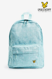 Lyle & Scott Blue Pool Print Backpack