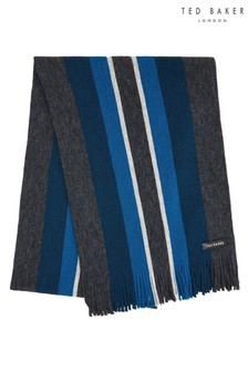 Ted Baker Charcoal Keverne Horizontal Striped Scarf