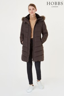 Hobbs Dark Chocolate Lilian Padded Jacket