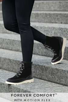 Forever Comfort® With Motion Flex EVA Lace-Up Ankle Boots