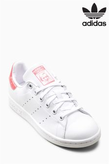 adidas Originals White/Pink Sparkle Stan Smith