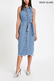 River Island Light Auth Carris Denim Dress