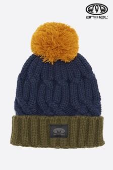 Dzianinowa czapka beanie Canye w kolorze indygi Animal