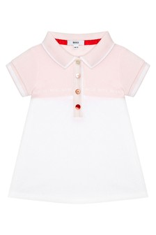 Boss Kidswear Baby Girls Pink Cotton Dress