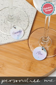 Personalised Holographic Wine Charm by Oakdene Designs