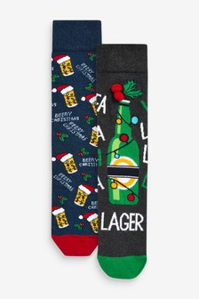 Beer Christmas Socks Two Pack