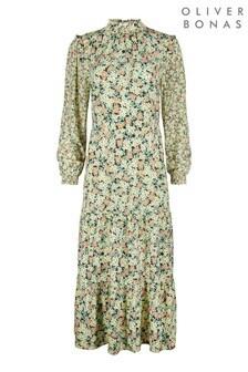 Oliver Bonas Cute Cluster Floral Print Maxi Dress