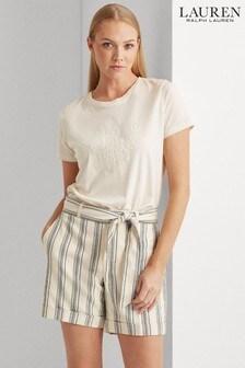 Lauren Ralph Lauren® Tonal Embellished Logo Katlin T-Shirt