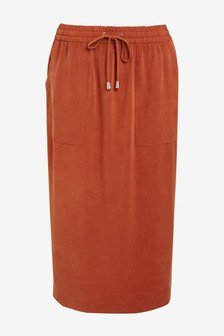 Relaxed Pencil Skirt