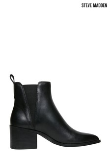 Steve Madden Black Leather Audience Boots