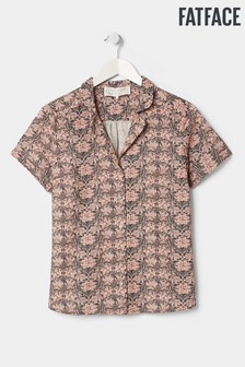 FatFace Green Liberty Linen Blend Shirt