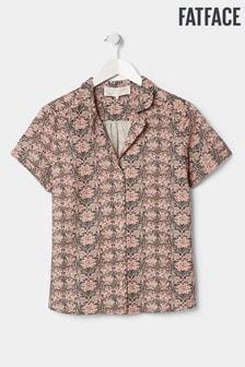 FatFace Green Liberty Linen Blend Shirt