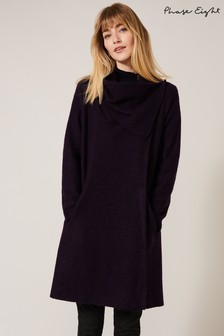 Phase Eight Purple Bellona Knit Coat
