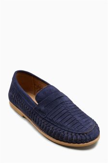 Suede Woven Loafers (Older)