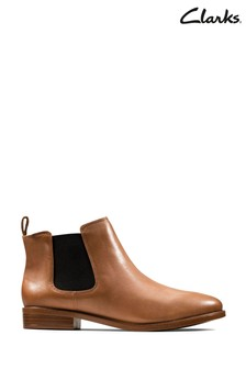 Clarks Tan Leather Taylor Shine Boots