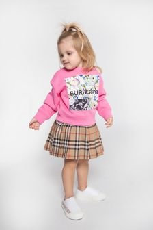 Baby Girls Vintage Check Mini Pearly Skirt