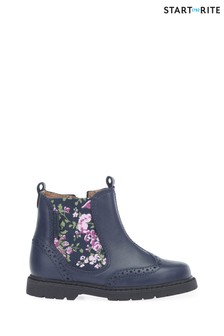 Start-Rite Navy Floral Chelsea Boots