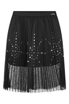 Girls Black Tulle Star Skirt
