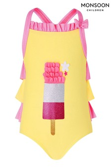 Monsoon Yellow Baby Ice Lolly Swimsuit