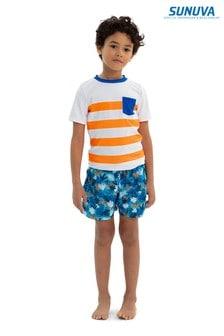Sunuva Blue Jungle Tiger Swim Shorts