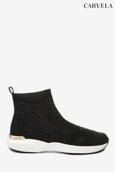 Carvela Jibberish Bling Black Boots