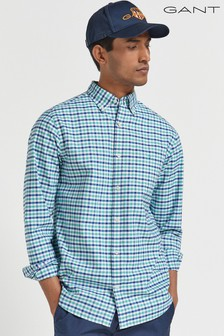 GANT Green Regular Oxford Gingham Shirt