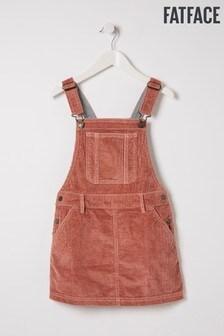 FatFace Pink Cord Pinafore Dress
