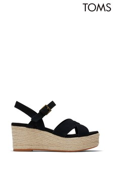 TOMS Black Suede Willow Sandals