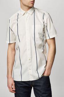 Koszula z krótkim rękawem w szerokie paski