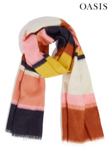 Oasis Natural Stripe Scarf