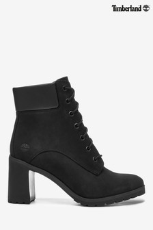 "Timberland® Black 6"" Lace Up Heel Boots"