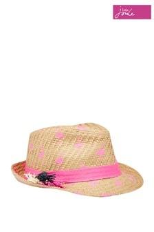 Joules Natural Pandora Print Trilby Hat