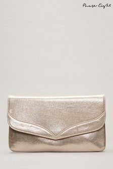 Phase Eight Caitlin Metallic Clutch Bag