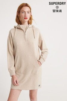 Superdry Zip Front Sweat Dress
