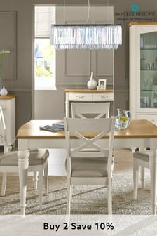 Montreux 4 to 6 Seater Extending Dining Table by Bentley Designs