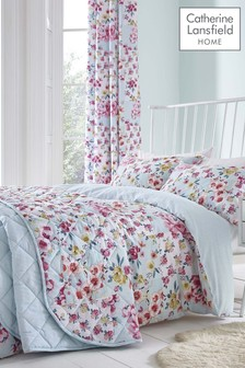 Flower Patchwork Easy Care Duvet Cover and Pillowcase Set by Catherine Lansfield